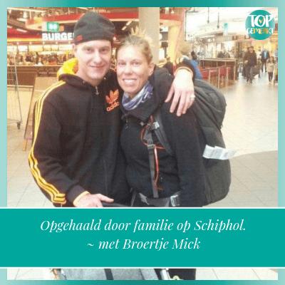 Missie van een ander leven - aankomst schiphol - TopGemerkt