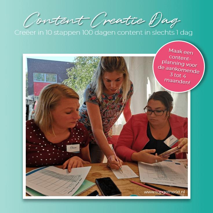 Content Creatie Dag - Workshop Creëer in 10 stappen 100 dagen content in slechts 1 dag _ TopGemerkt