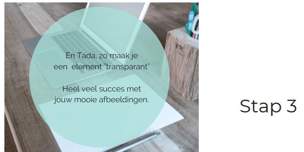 Canva voordelen - Transparant stap 3 - TopGemerkt