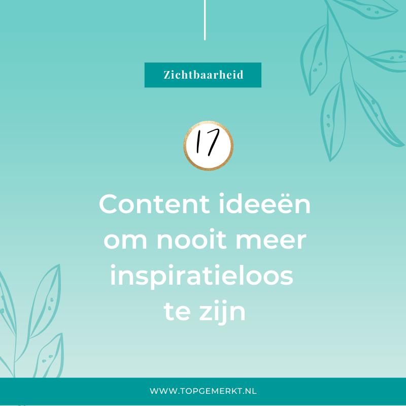 17 Content Ideeën Om Nooit Meer Inspiratieloos Te Zijn - omslag - TopGemerkt