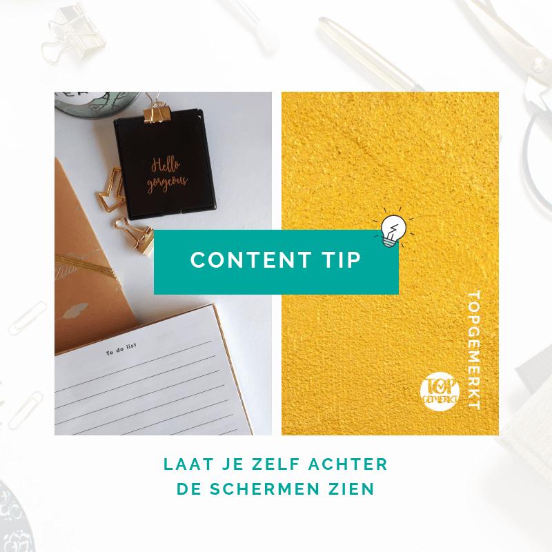 Content Ideeën om nooit meer inspiratieloos te zijn - Content tip post voorbeeld - TopGemerkt