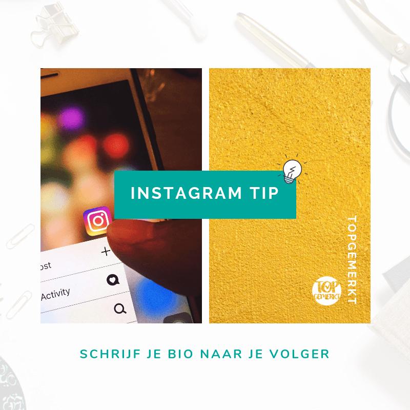 Content Ideeën om nooit meer inspiratieloos te zijn - Instagram Tip post voorbeeld - TopGemerkt