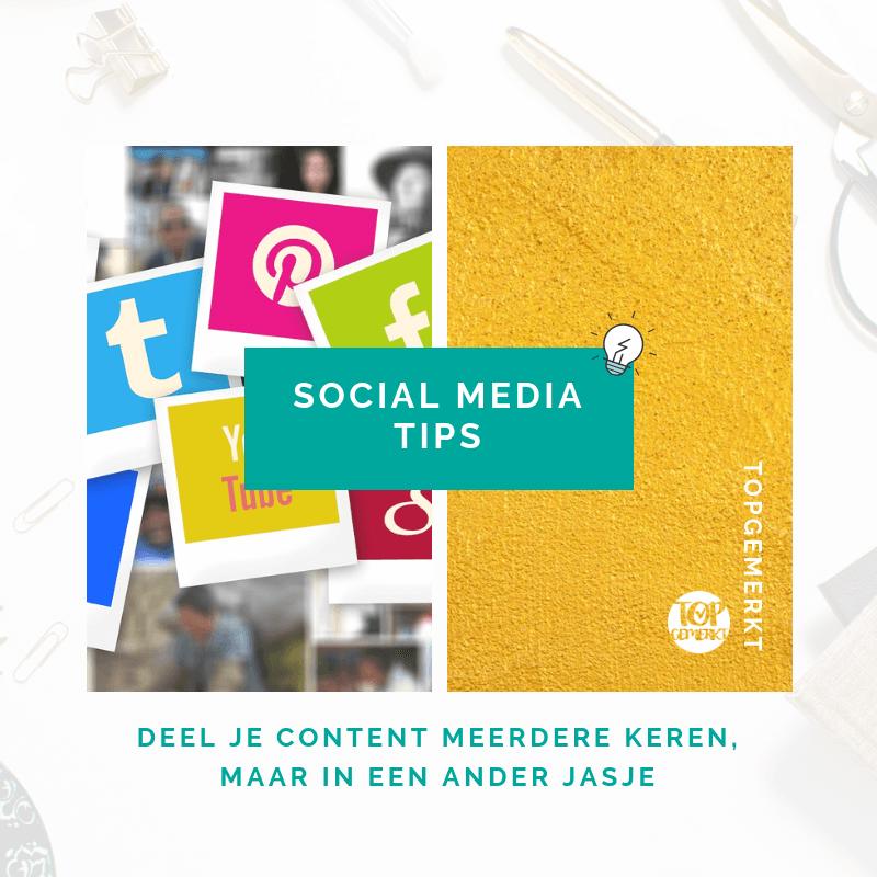 Content Ideeën om nooit meer inspiratieloos te zijn - Social Media Tips post voorbeeld - TopGemerkt