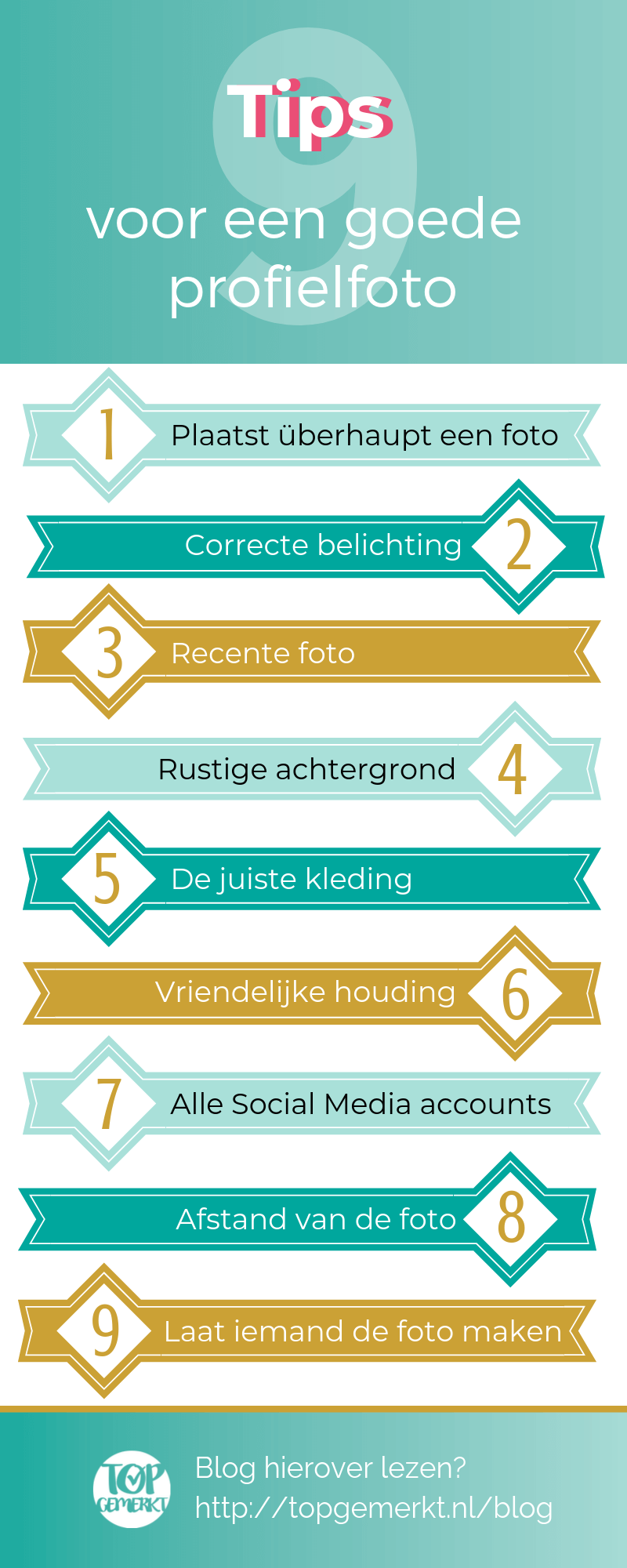 Instagram Training - Business Proof - Infographic profielfoto 9 tips - TopGemerkt