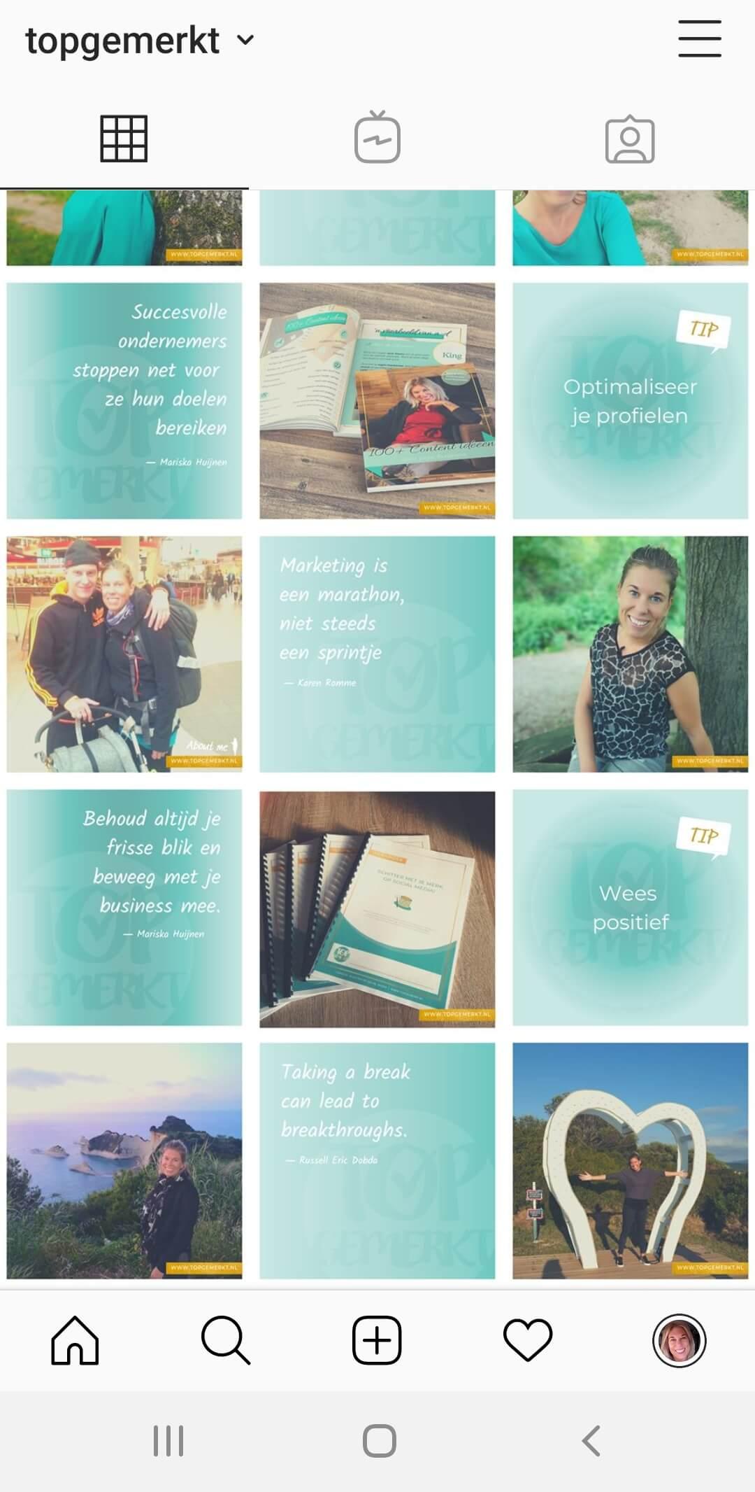Instagram Training - Business Proof - Voorbeeld Instagram Feed - TopGemerkt