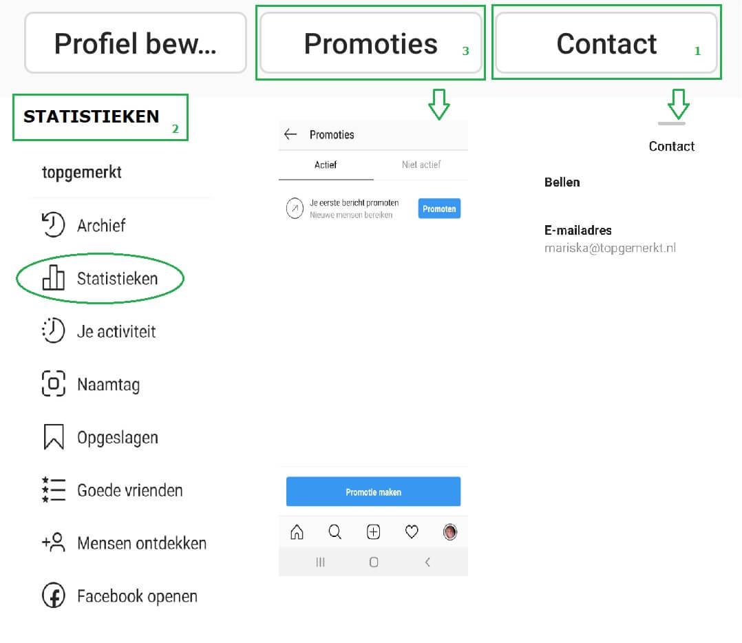 Instagram Training - Business Proof - Voordelen bedrijfsprofiel - TopGemerkt