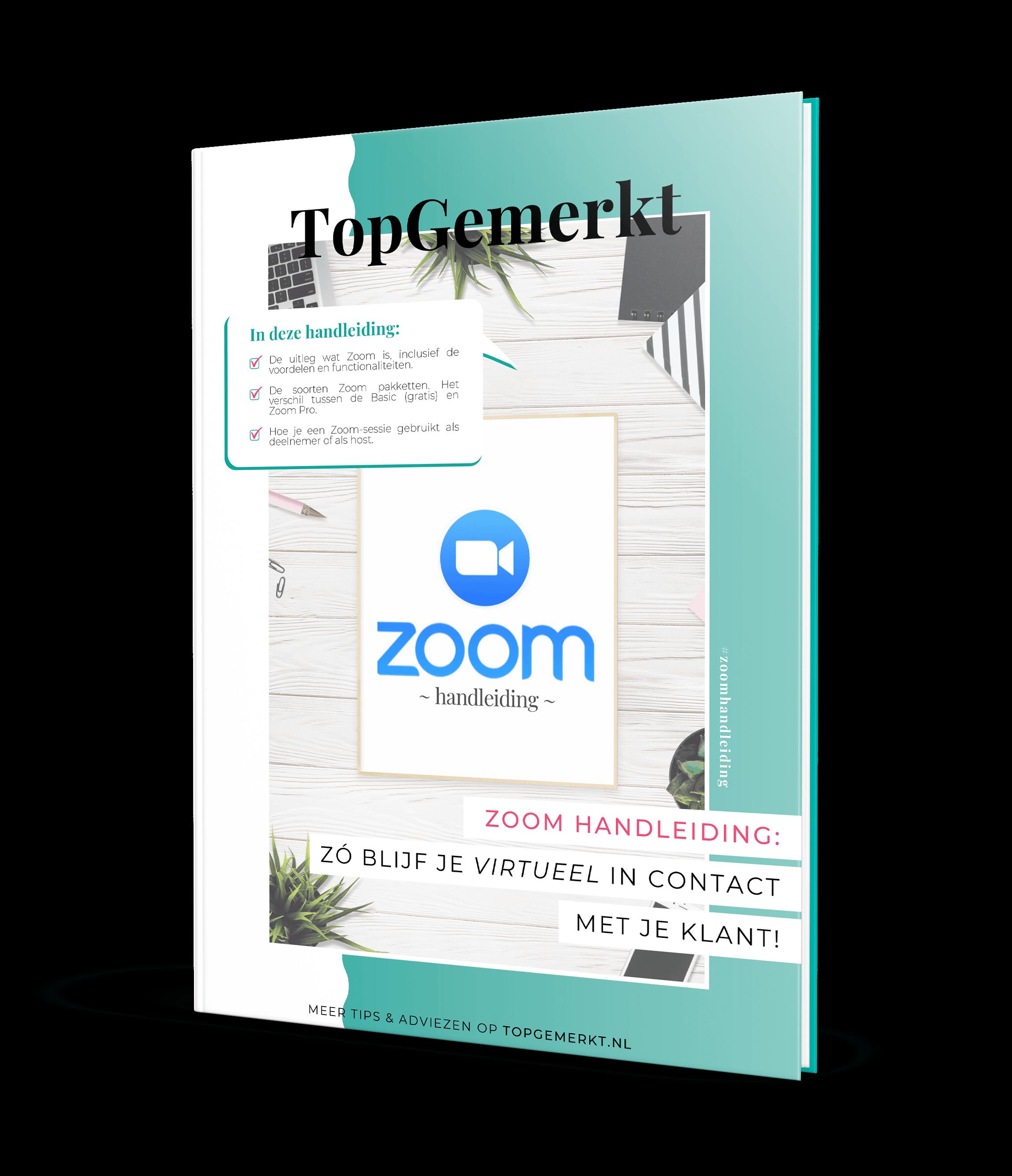 Zoom Handleiding - zó blijf je in contact met je klant (vk) - TopGemerkt