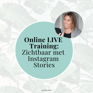 Online training - Zichtbaar met Instagram Stories - v- TopGemerkt (2)