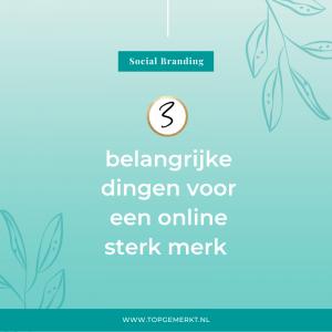 3 belangrijke dingen voor een sterk online merk - blog -TopGemerkt