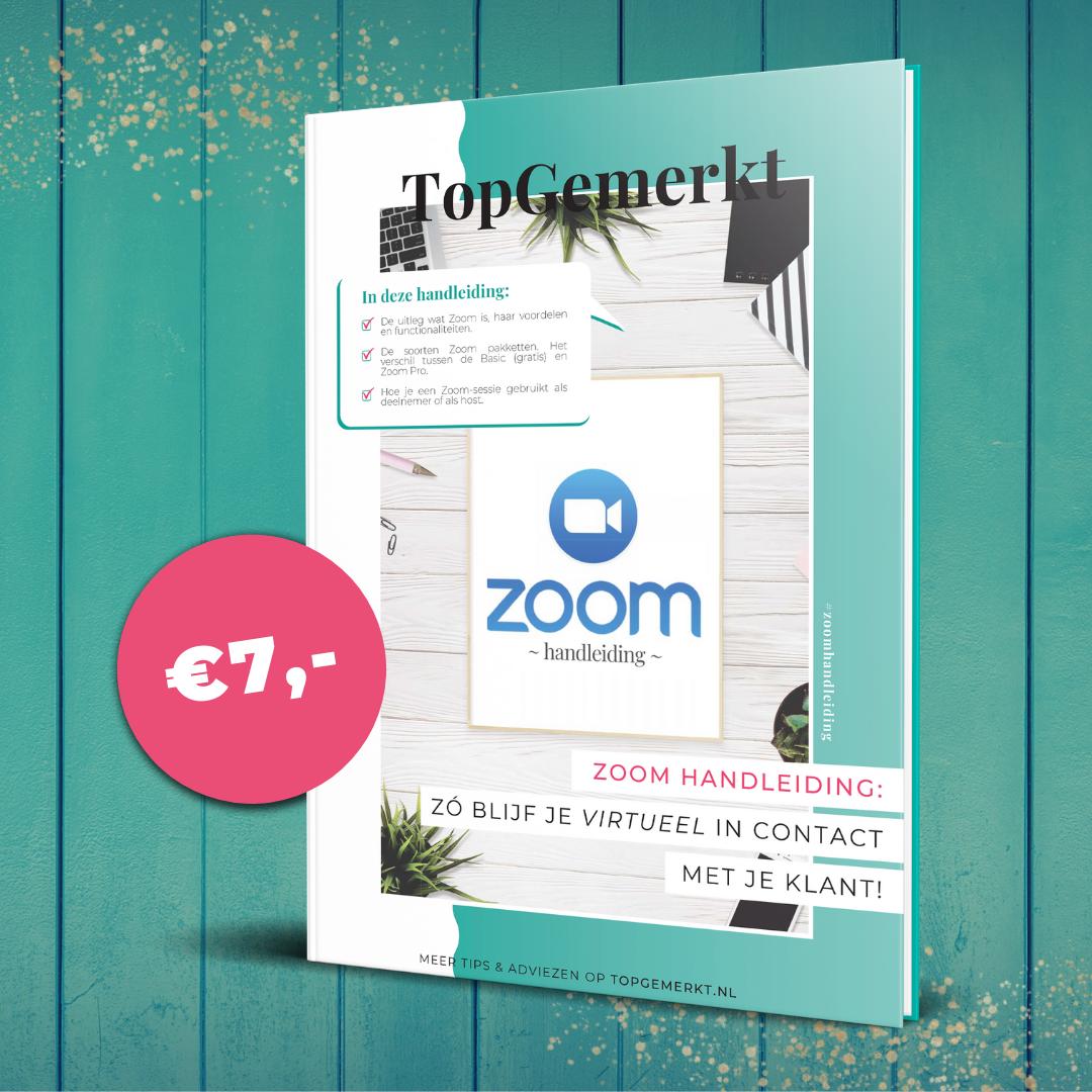 Nederlandstalige Zoom handleiding - TopGemerkt