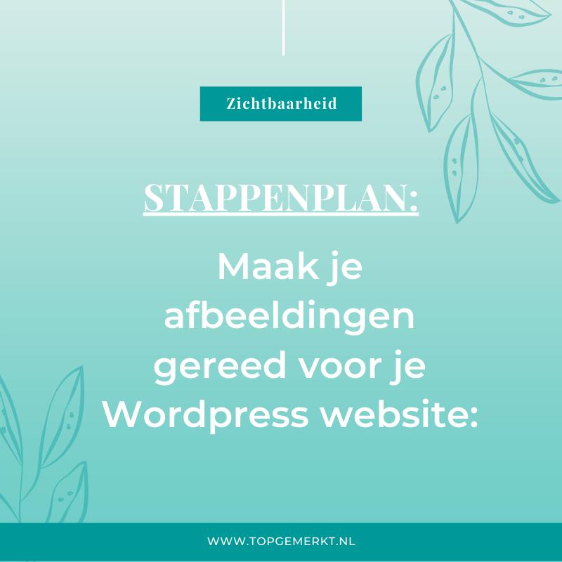 Stappenplan - Maak je afbeeldingen gereed voor je WordPress website - omslag - TopGemerkt