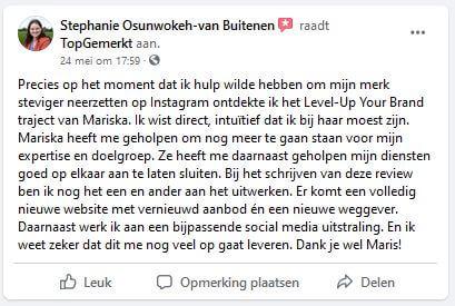 Referentie Coaching Traject - Stephanie Osunwokeh-van Buitenen
